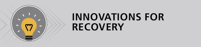 illustration of lightbulb titled innovation for recovery