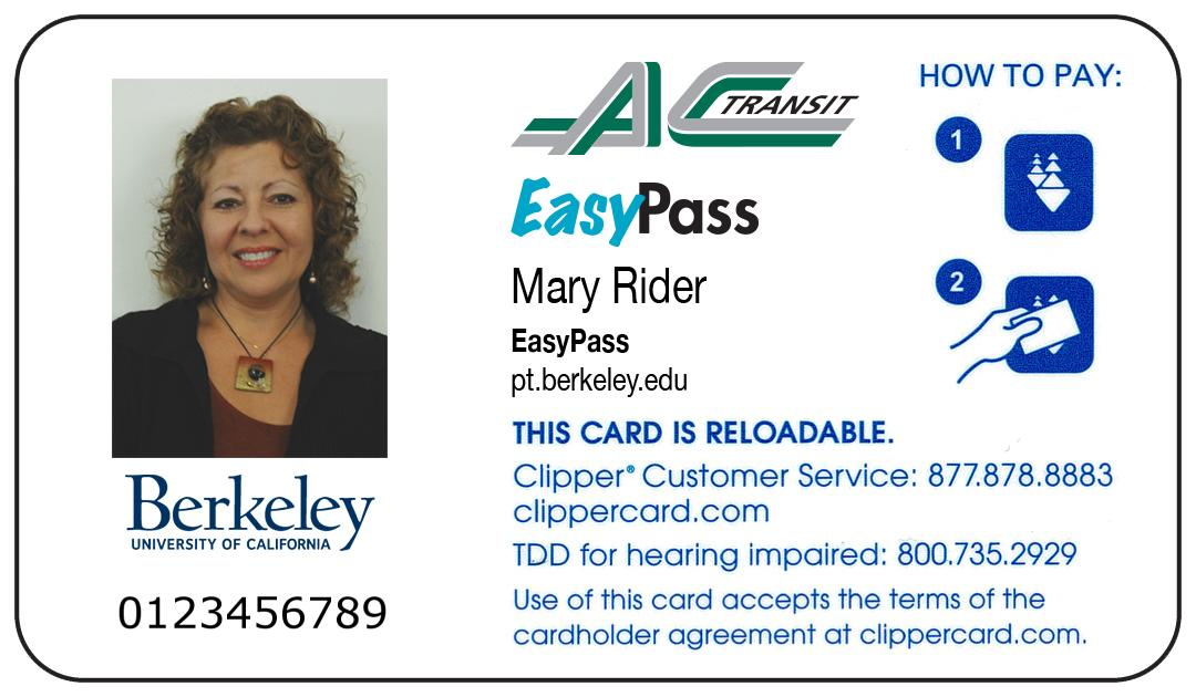 Employer EP Sample EasyPass ClipperCard