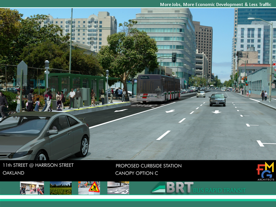 East Bay BRT Photosimulations: 11th Street at Harrison