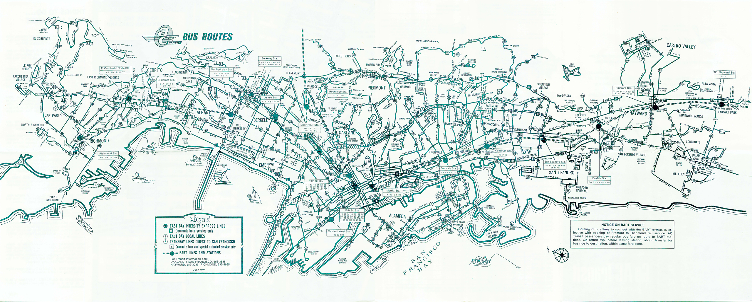 Maps AC Transit - Map san francisco bus routes