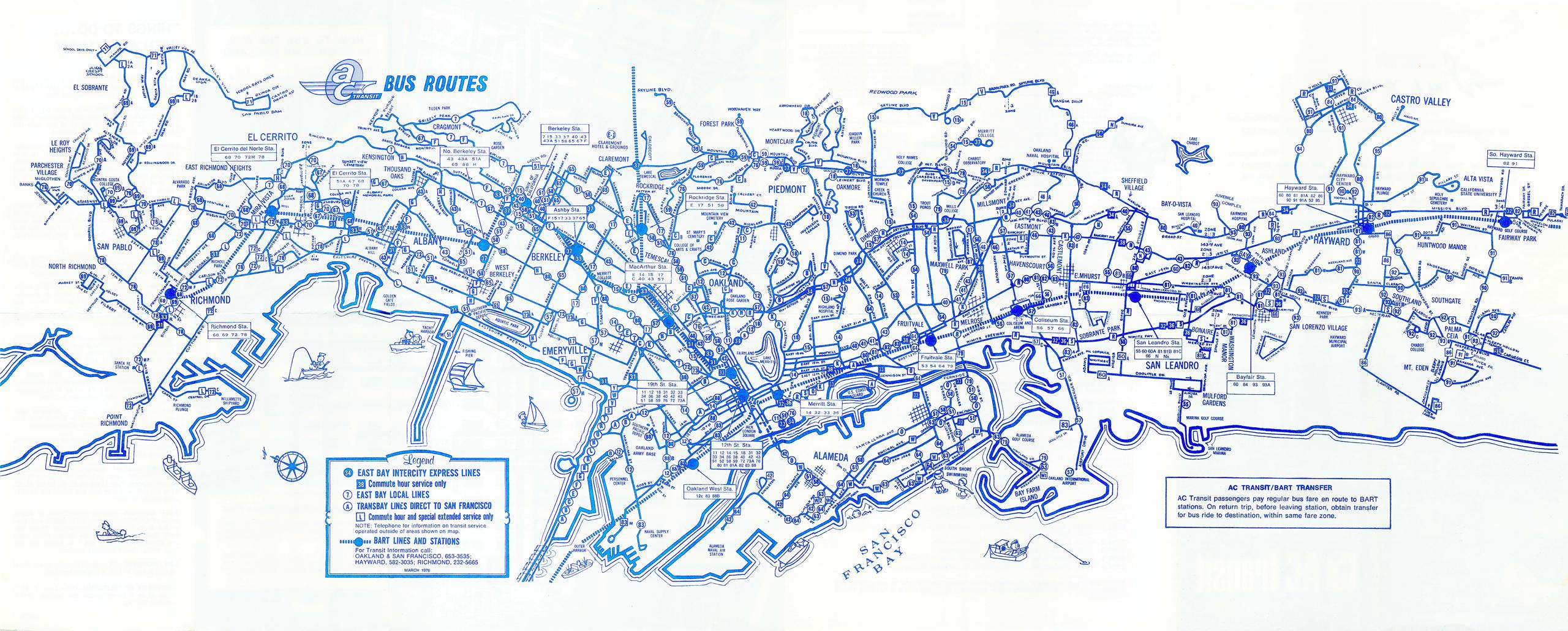 Ac Transit Map Maps | AC Transit Ac Transit Map