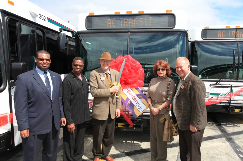 AC Transit Directors at new Gillig ribbon-cutting