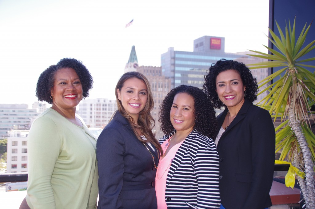 (from left to right) Beverly Greene, Director of Legislative Affairs & Community Relations;  and External Affairs Representatives, Estee Sepulveda, Julie Waters & Claudia Burgos
