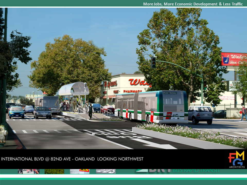 East Bay BRT Photosimulations: International Blvd. at 82nd Looking Northwest