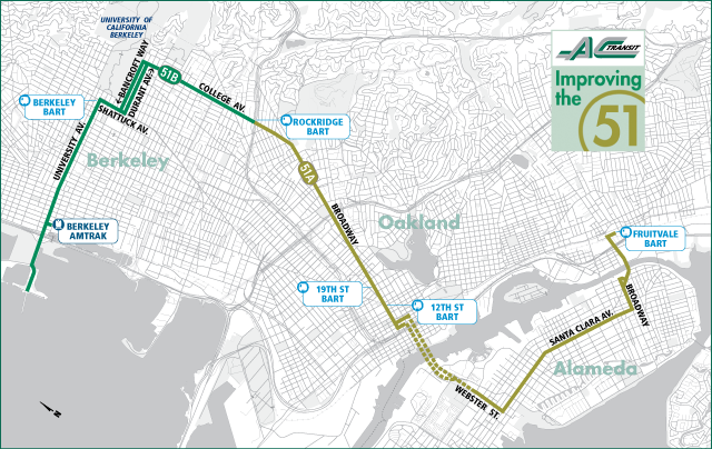 Project51  Berkerley Bus Route Ac Transit Map on