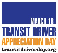 official logo for Transit Driver Apprecation Day March 18 2015