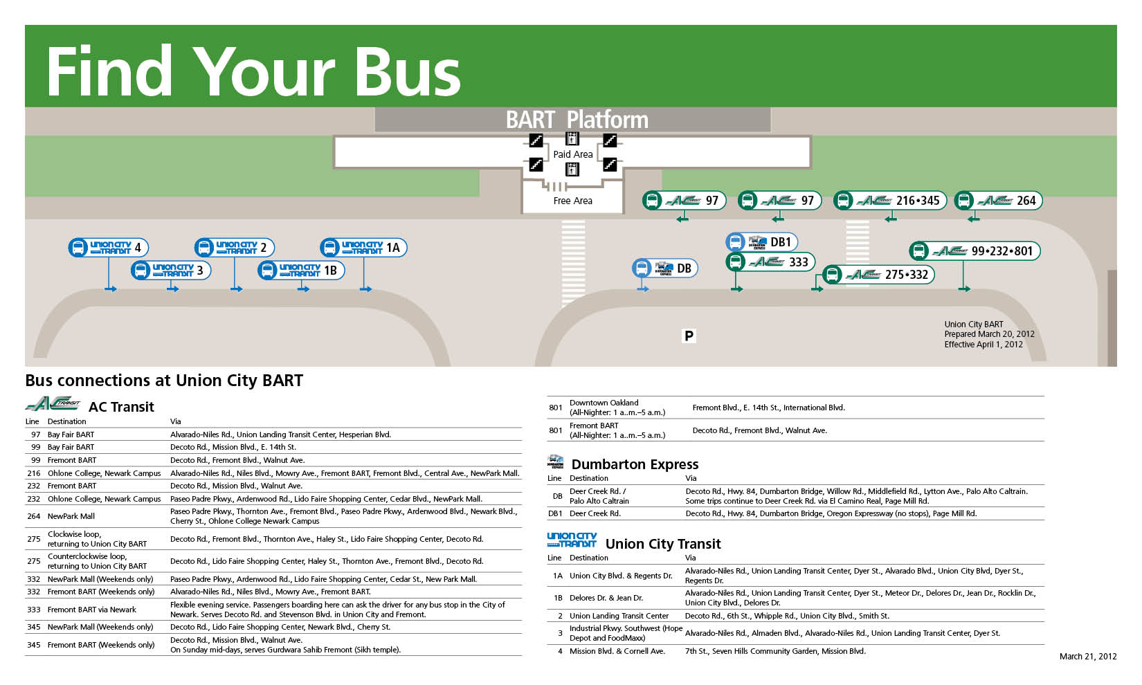 New Bus Stops to Open at Union City BART Station | AC Transitunion city city