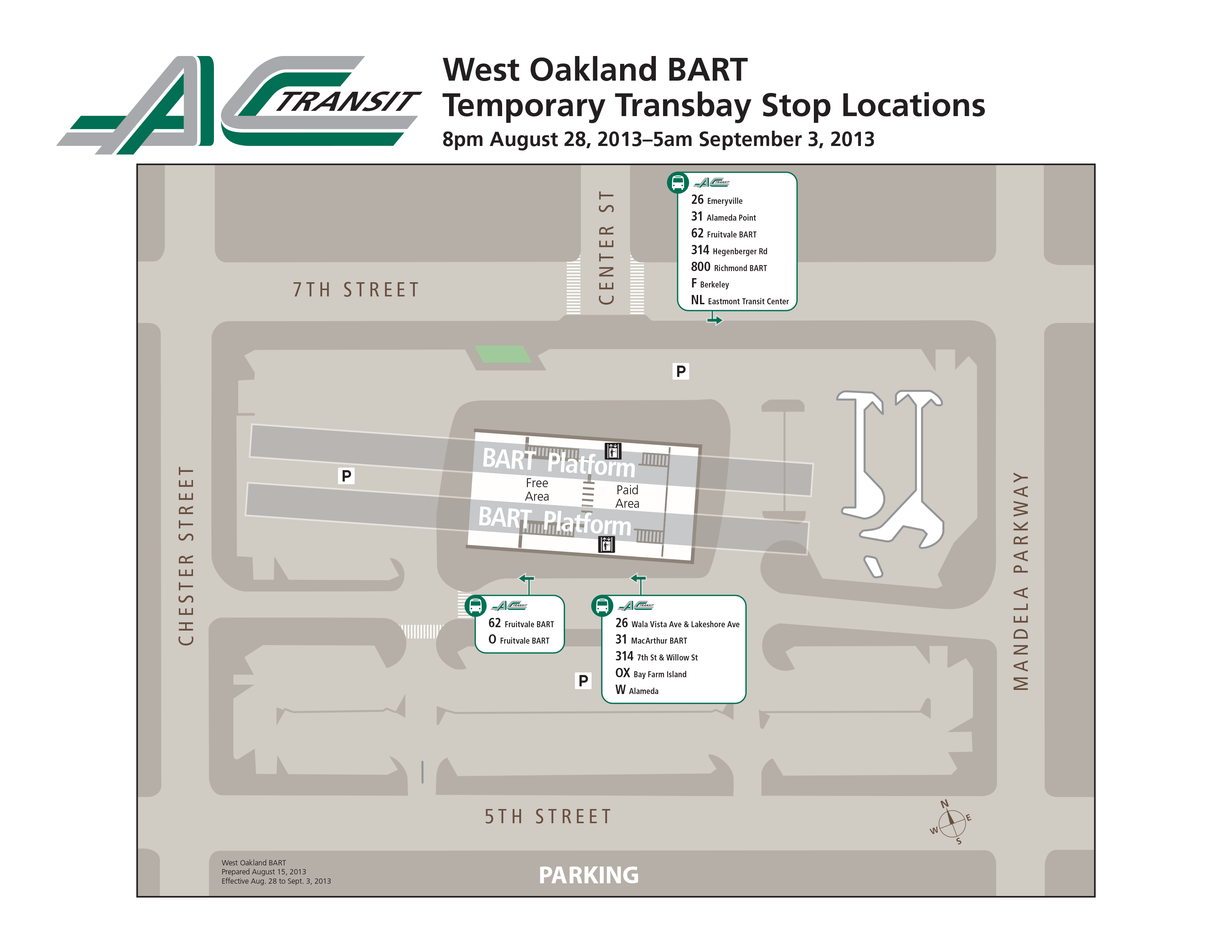 Oakland Subway Map.Find Your Bus At West Oakland Bart During The Bay Bridge Closure