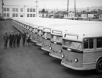 Brand new 900 series buses in 1944