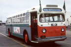 AC Transit bus number 1851, the Pedal Hopper bicycle bus in 1971