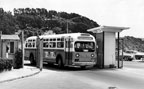 AC Transit bus number 1908 on Treasure Island