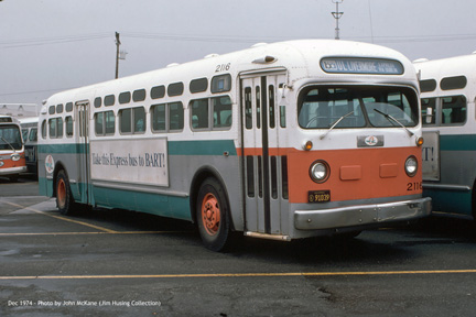 AC Transit bus number 2116