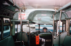Interior of AC Transit bus number 2116