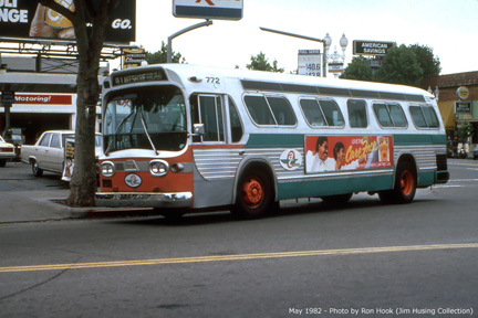 AC Transit bus number 772