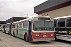 Retired bus 208 in Hayward Yard on May 11, 1991.