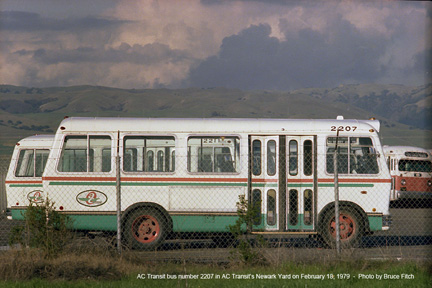 AC Transit bus 2207 - April 1979