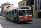 AC Transit bus 1022 in downtown Oakland in November 1984.