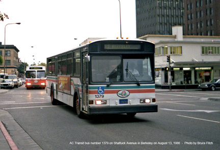 AC Transit bus 1379 in downtown Oakland