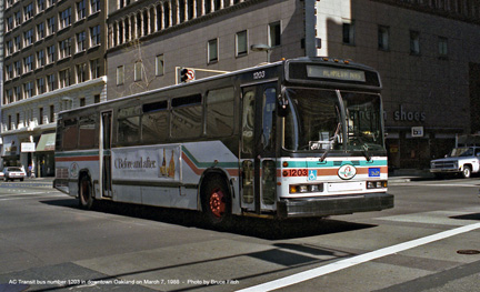 AC Transit bus number 1203