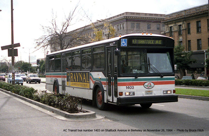 AC Transit bus number 1403