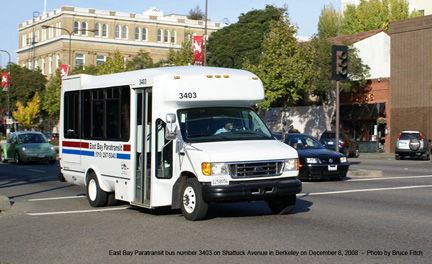 East Bay Paratransit vehicle 3403 in Berkeley on March 8, 2009.
