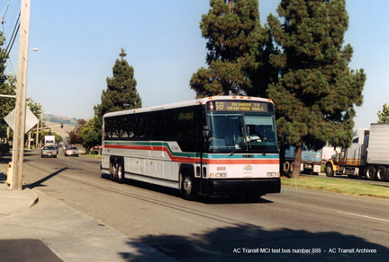 AC Transit bus number 888