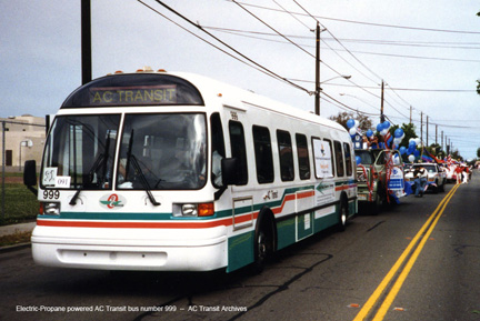 AC Transit 999 was a futuristic hybrid electric bus