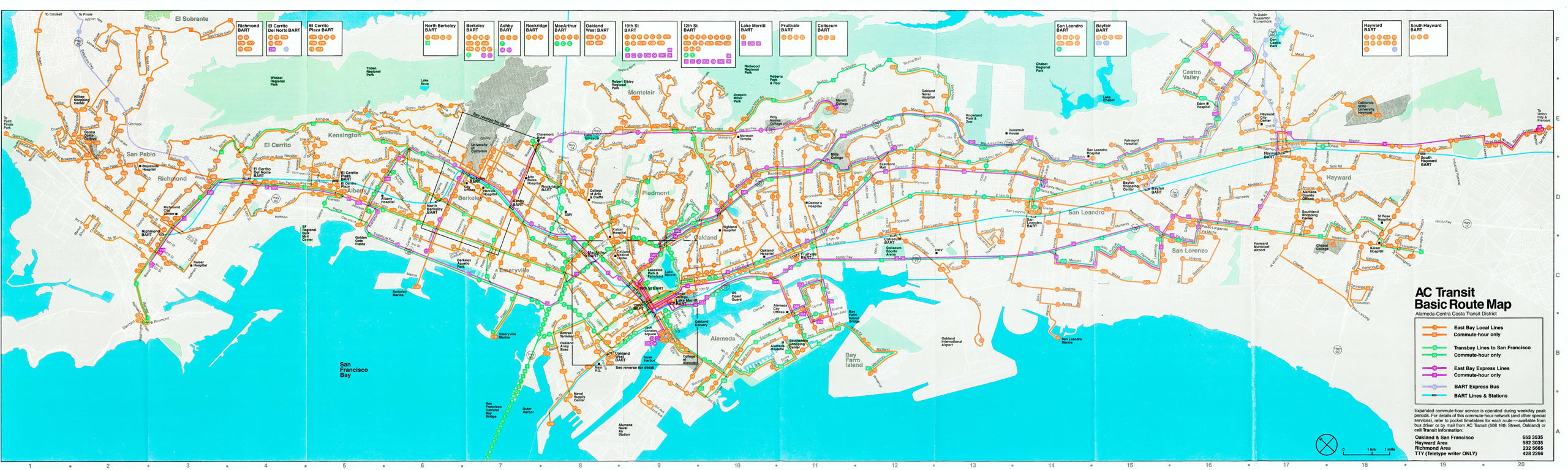 Maps AC Transit - Transit map