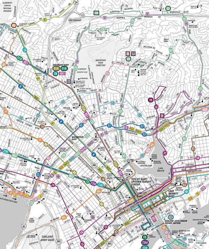 Ac Transit Map Rider Guides | AC Transit Ac Transit Map